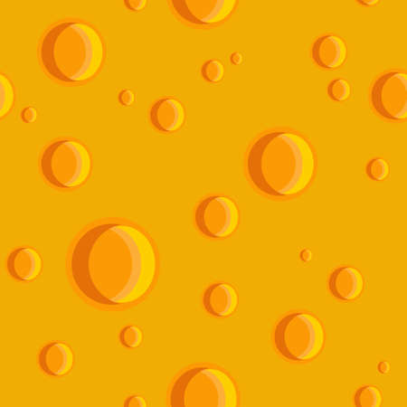 Seamless texture of a cheese with holes Illustration