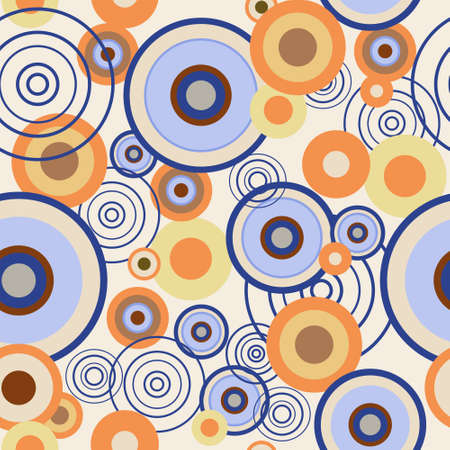 Seamless pattern with a colored circles Illustration
