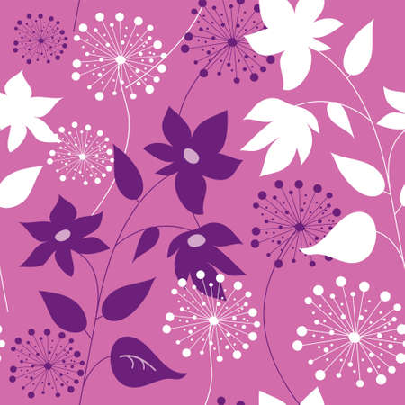 Stylish seamless pattern with a flowers Vector