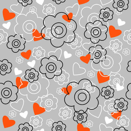 graphically: Graphically seamless pattern with a flowers