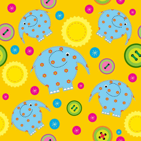 Seamless pattern with a childrens applications  Vector