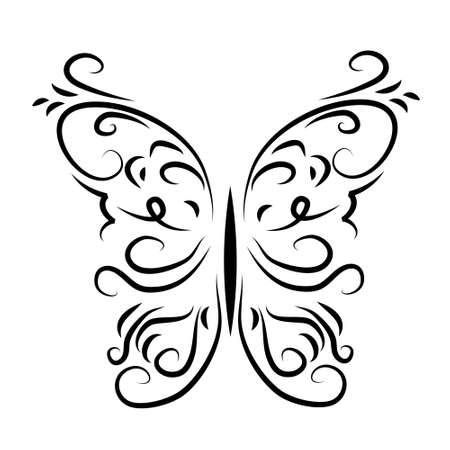 graphically: Graphically patterned decorative butterfly