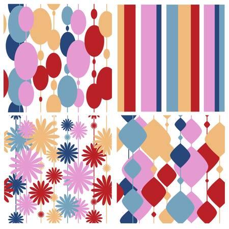 Set of seamless festive patterns