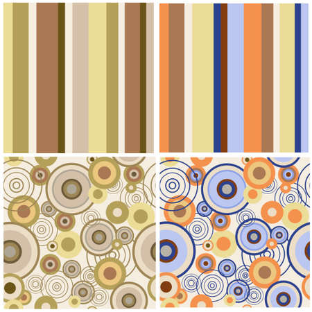 Set of a abstract seamless patterns Vector