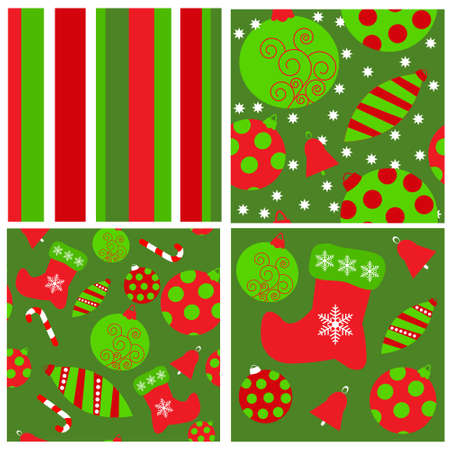 Set of a seamless Christmas patterns Vector