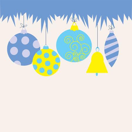 Christmas card with a decorative toys