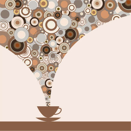 The stylish design of cup of coffee Illustration