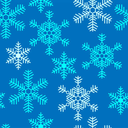 Seamless pattern with a snowflakes Stock Vector - 22777866