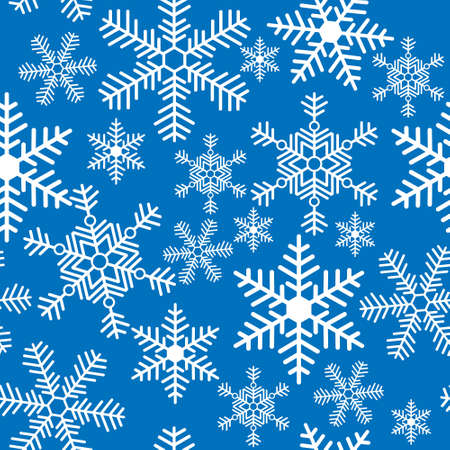 Seamless background with a Christmas snowflakes Stock Vector - 22778201