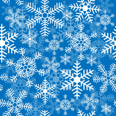 Seamless background with a Christmas snowflakes Illustration