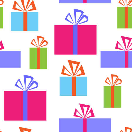 Seamless pattern with a gift boxes