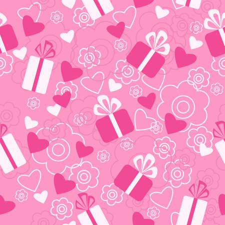 Seamless pattern a Valentines Day Illustration