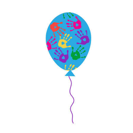 ray trace: Balloon with a handprints Illustration