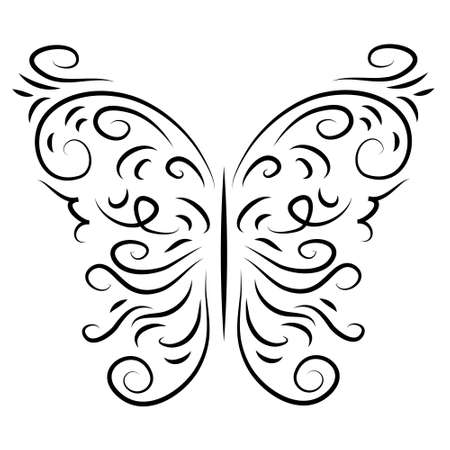 logging: Butterfly isolate a stylish decorative graphically