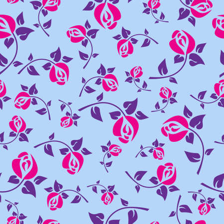 Festive seamless pattern with a roses