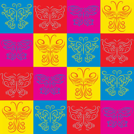 Stylish decorative background with a colorful butterflies Vector