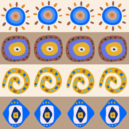 Seamless ornament with a ethnic patterns Vector