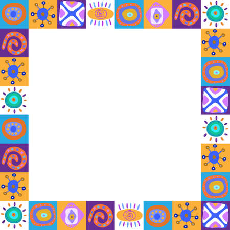 Frame with a colorful ethnic pattern