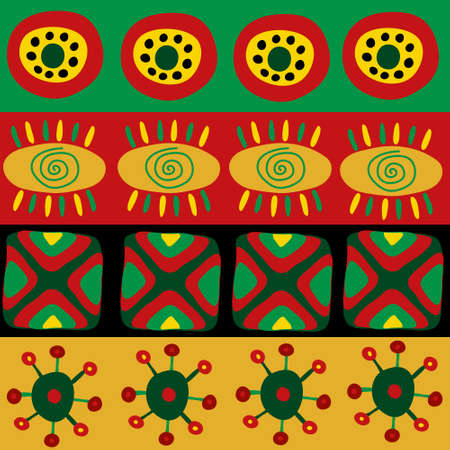 Seamless pattern with a funny African ornament