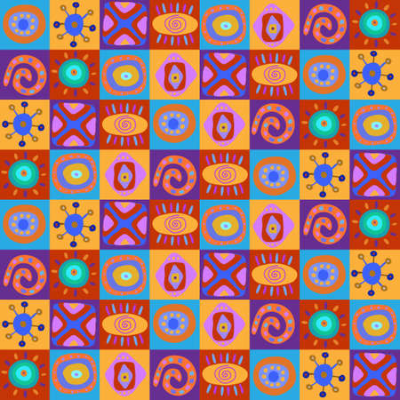Seamless pattern with a childrens African ornament Illustration