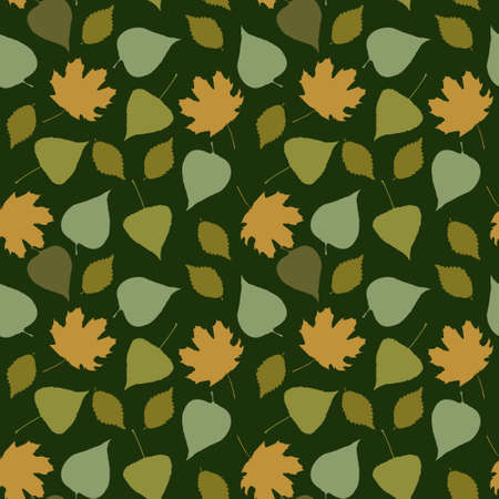 Floral seamless pattern with a forest leaves Illustration