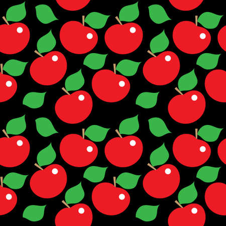 Seamless bright template of a red apples