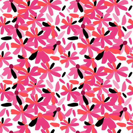 Seamless pattern of a pink flowers Illustration