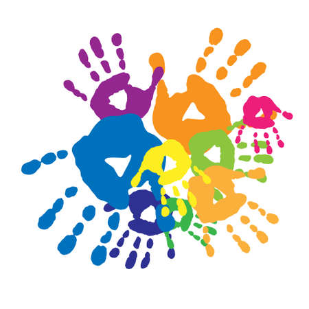 handprints: Abstract background with a handprints Illustration