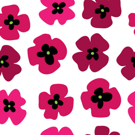 Festive floral background with a stylized poppies