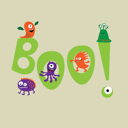 mutation: Cute monsters with a  word boo