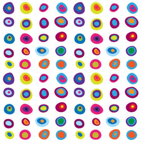 circulos concentricos: Modelo incons�til lindo con un multicolor c�rculos conc�ntricos Vectores