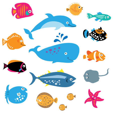 A collection of a exotic marine inhabitants