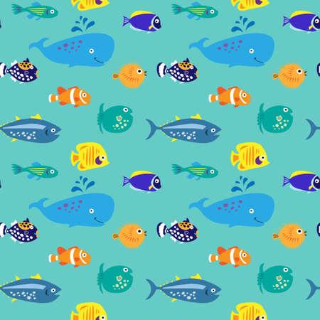 Sin patrón, con un pez hermoso decorativa Foto de archivo - 65510527