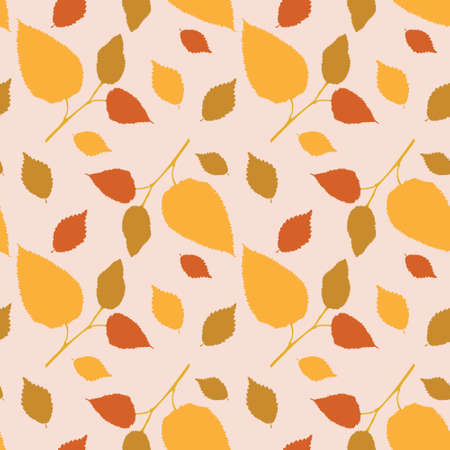 marvelous: Seamless pattern with a marvelous autumn leaves