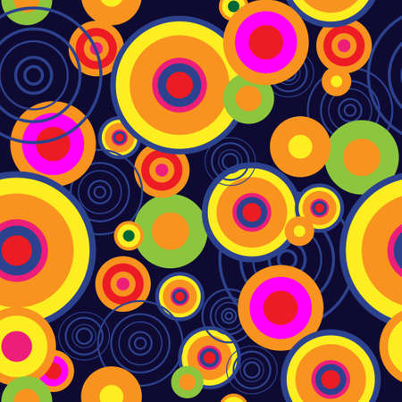 Abstract background with a bright psychedelic concentric circles Illustration