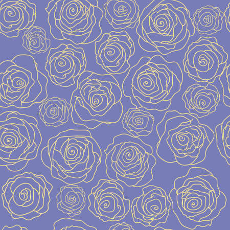 Stylish floral pattern with a roses on a blue background