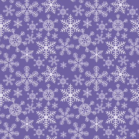 Seamless christmas texture with a snowflakes on a blue background