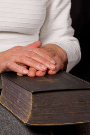a close up view of praying hands Stock Photo - 5948800