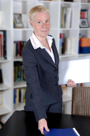 a portrait of a business woman in her office Stock Photo - 6625463