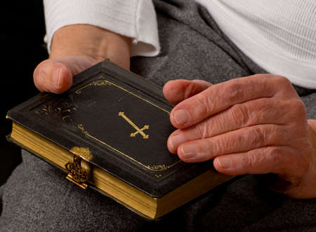a close up view of praying hands Stock Photo - 6674835