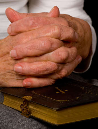 a close up view of praying hands Stock Photo - 6674840