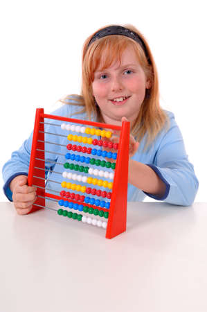 spare time, a girl at play on a white background photo