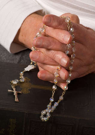 a close up view of praying hands Stock Photo - 7098867