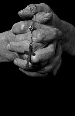 a close up view of praying hands Stock Photo - 7229143