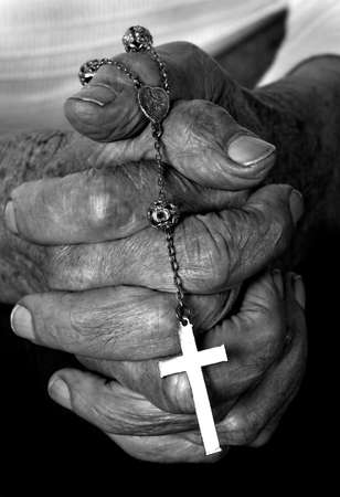 a close up view of praying hands Stock Photo - 7274962