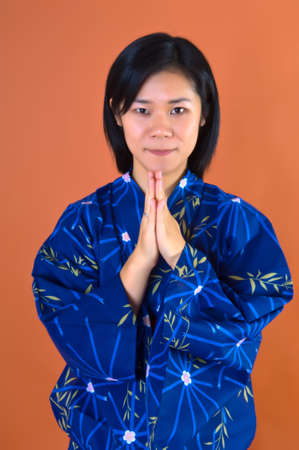 A Portrait of a young Asian � Japanese with Kimono Stock Photo - 7282312