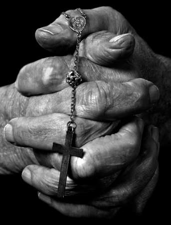a close up view of praying hands Stock Photo - 7434926