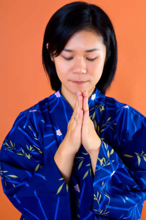 A Portrait of a young Asian � Japanese with Kimono Stock Photo - 7578796