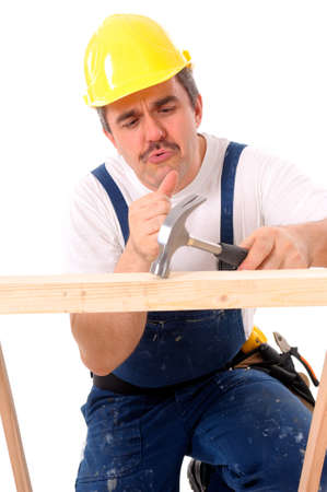 Craftsmen, laborers, mechanic - Portrait of a craftsman Stock Photo - 7801674