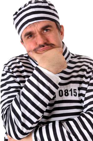 In prison - Portrait of a convict, prisoner photo